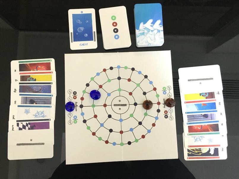 游戏时候的样子,开了两局均携手成功,不过第二局加入变体后玩村了,所以并不能算。